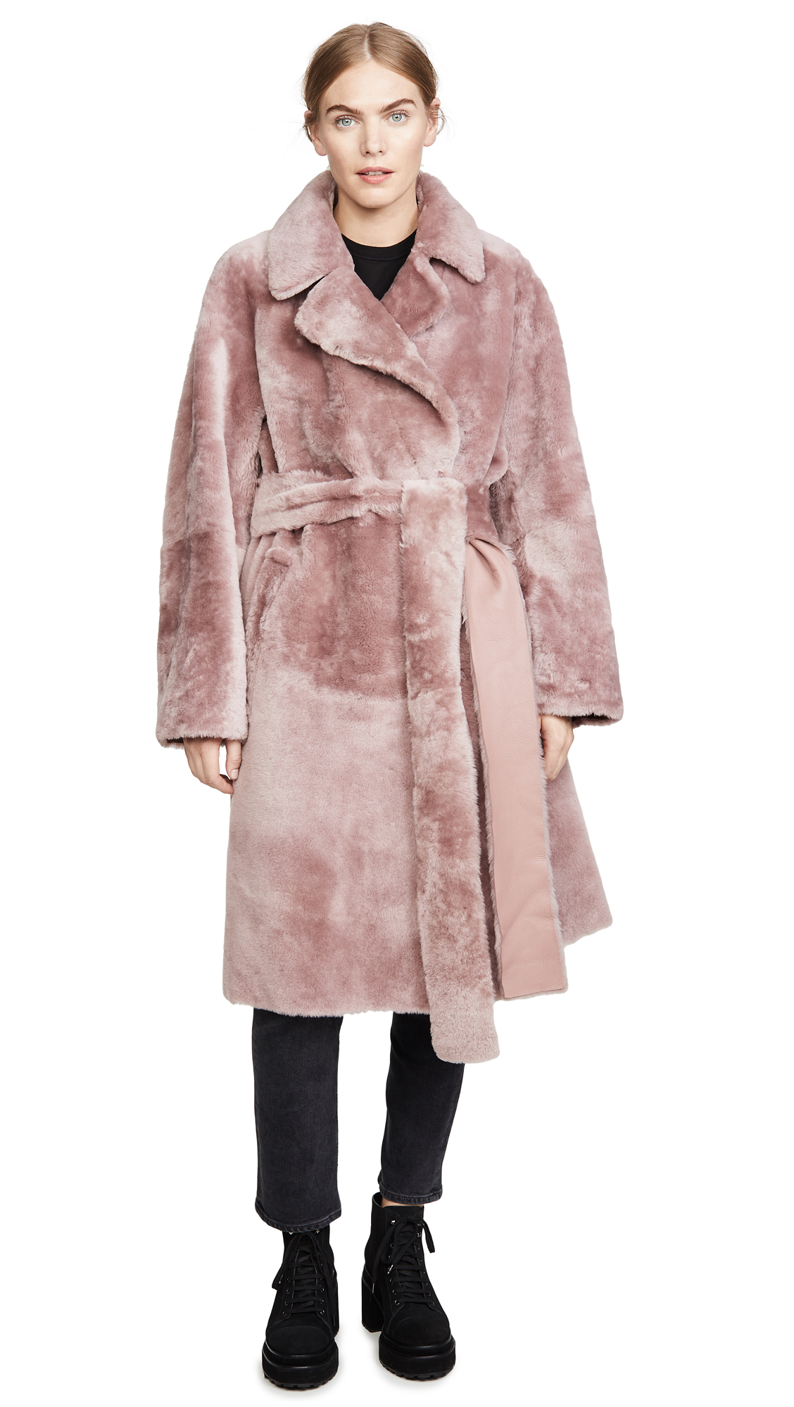Buy No. 21 online - photo of No. 21 Shearling Trench