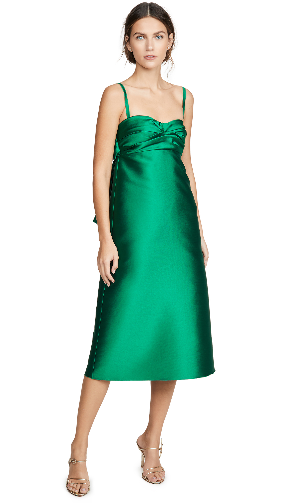 Buy No. 21 online - photo of No. 21 Midi Dress With Bow Detail
