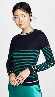 No. 21 Пуловер в полоску