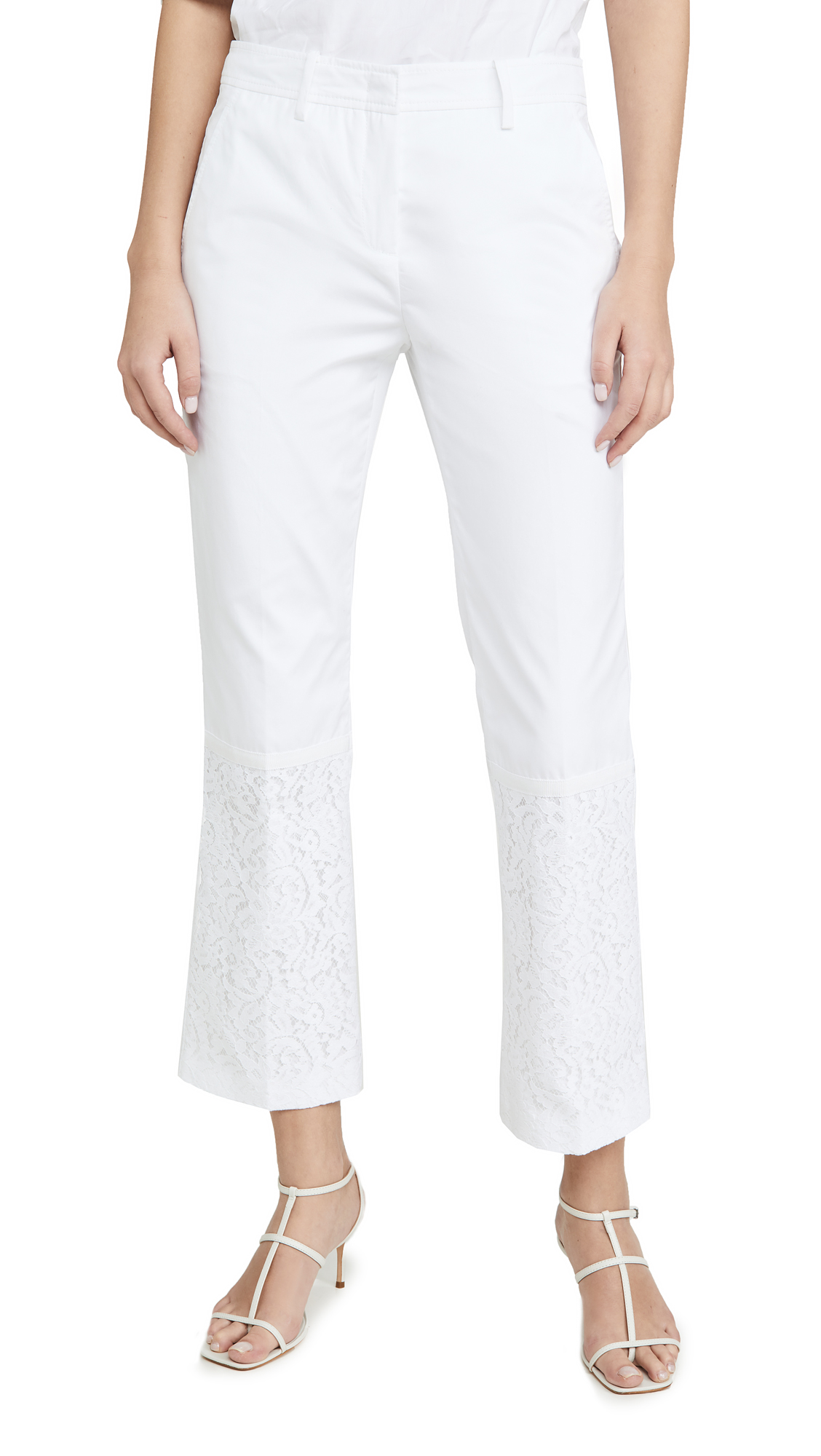 Buy No. 21 online - photo of No. 21 Crop Flare Trousers