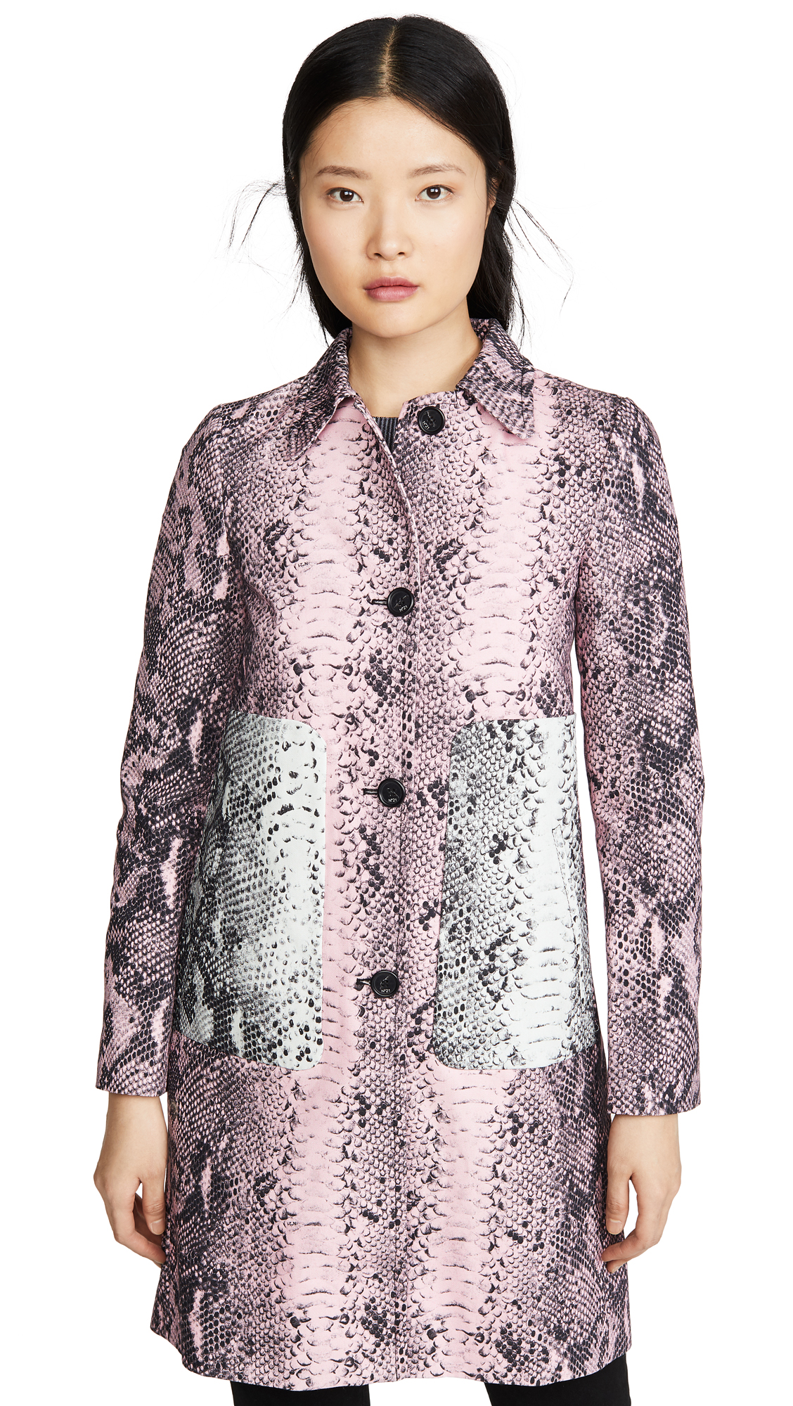 Buy No. 21 online - photo of No. 21 Snake Print Trench