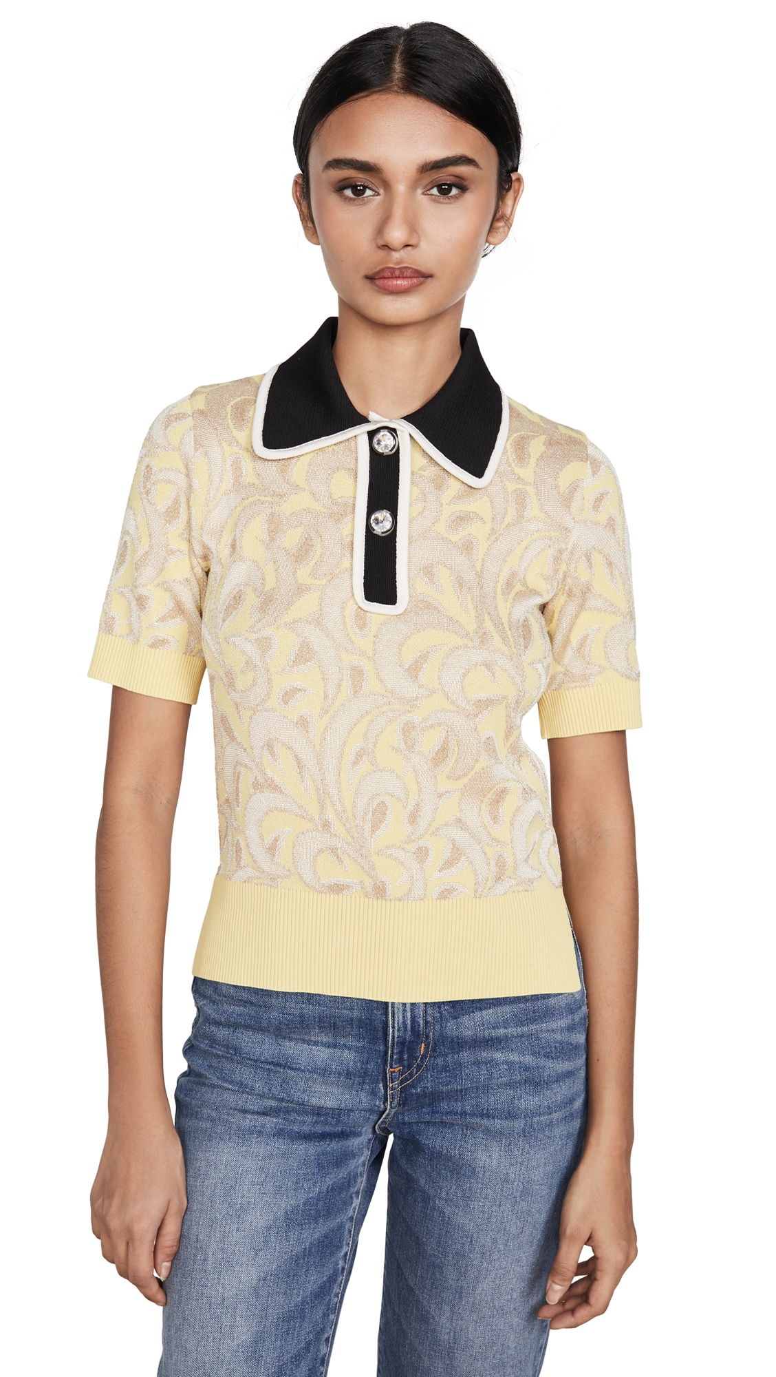 No. 21 Contrast Collared Polo Tee – 50% Off Sale