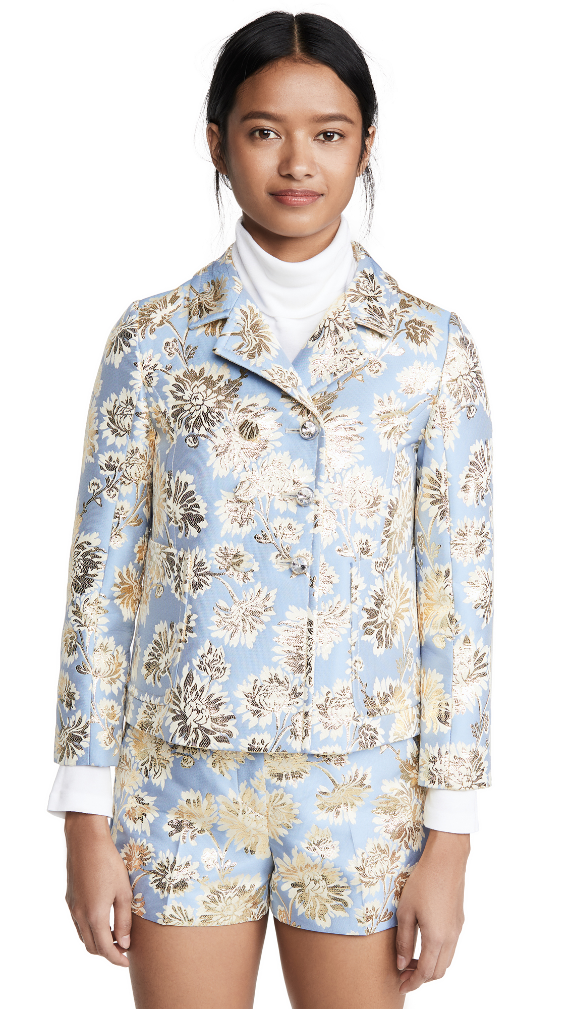 Buy No. 21 online - photo of No. 21 Metallic Floral Jacket