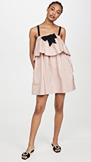 No. 21 Layered Mini Dress with Bow