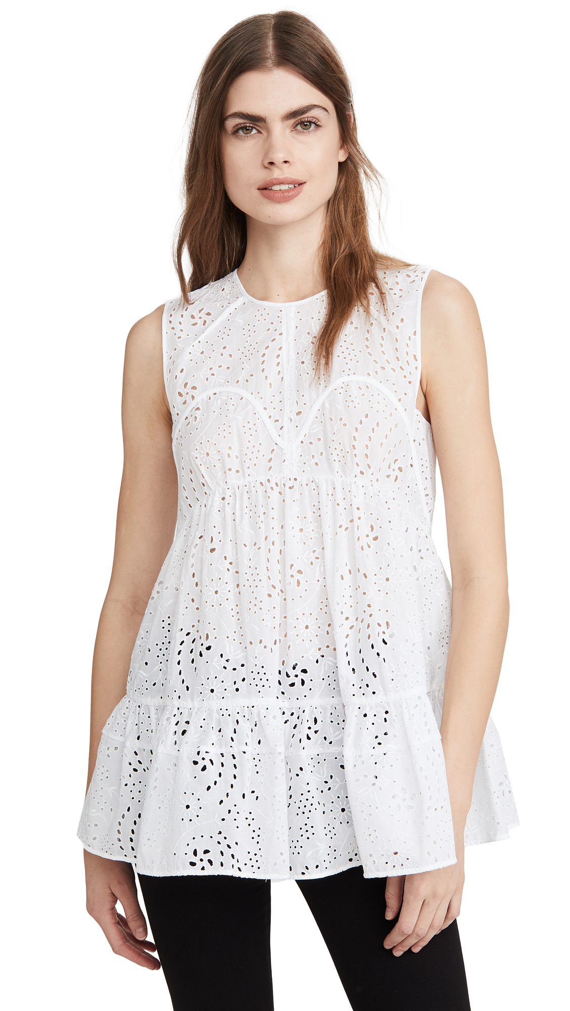 No. 21 Eyelet Sleeveless Blouse – 50% Off Sale