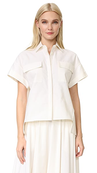 Novis Short Sleeve Blouse In Ivory