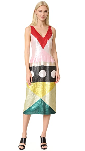 Novis Sequined Cocktail Dress - Multi