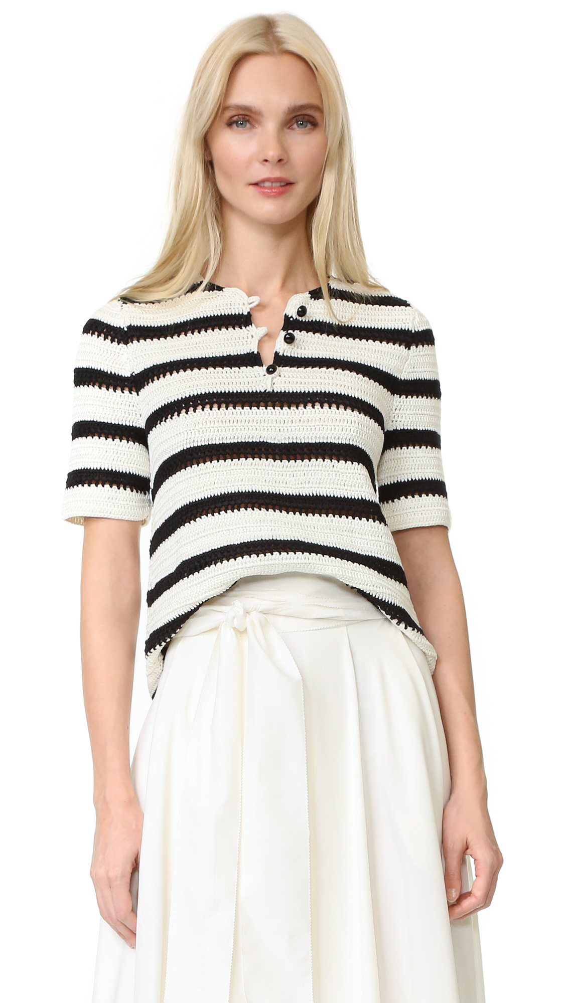 Novis Crochet Stripe Top