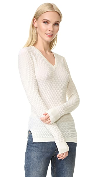 Novis Textured V Neck Sweater