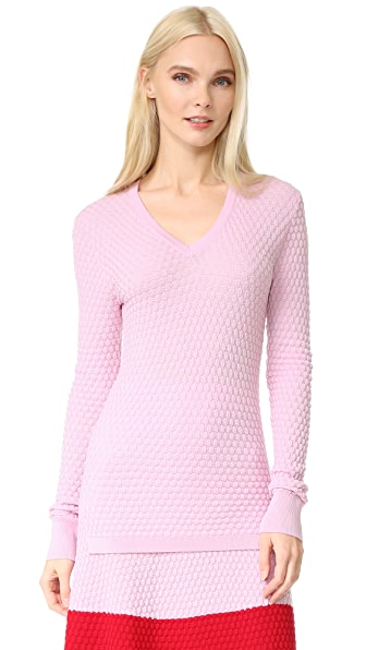 Novis Textured V Neck Sweater