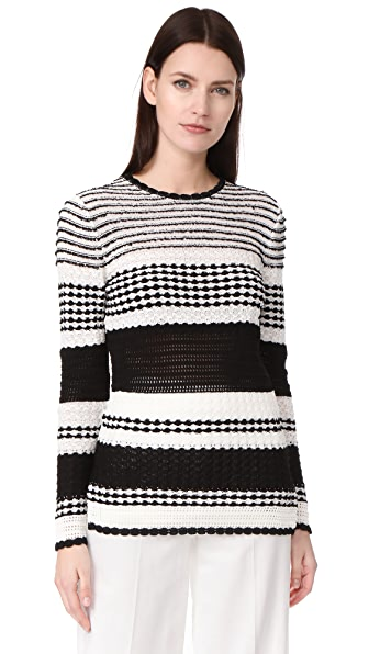 Novis Monroe Striped Crew Sweater