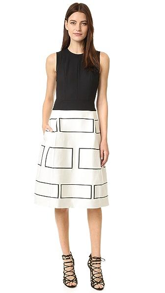 Narciso Rodriguez Платье без рукавов с графическим рисунком