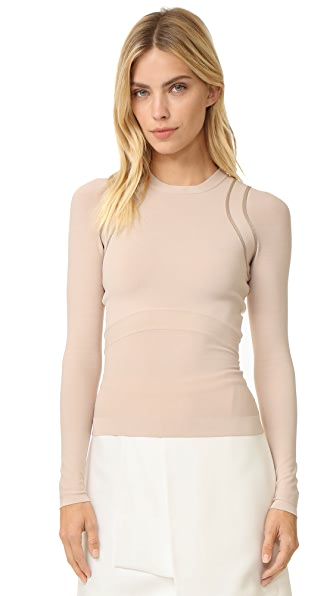 Narciso Rodriguez Long Sleeve Knit Top