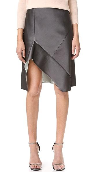Narciso Rodriguez Bonded Silk Skirt