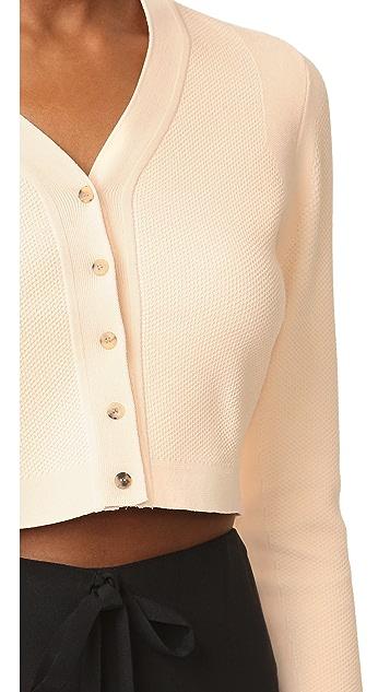 Narciso Rodriguez Long Sleeve Cardigan