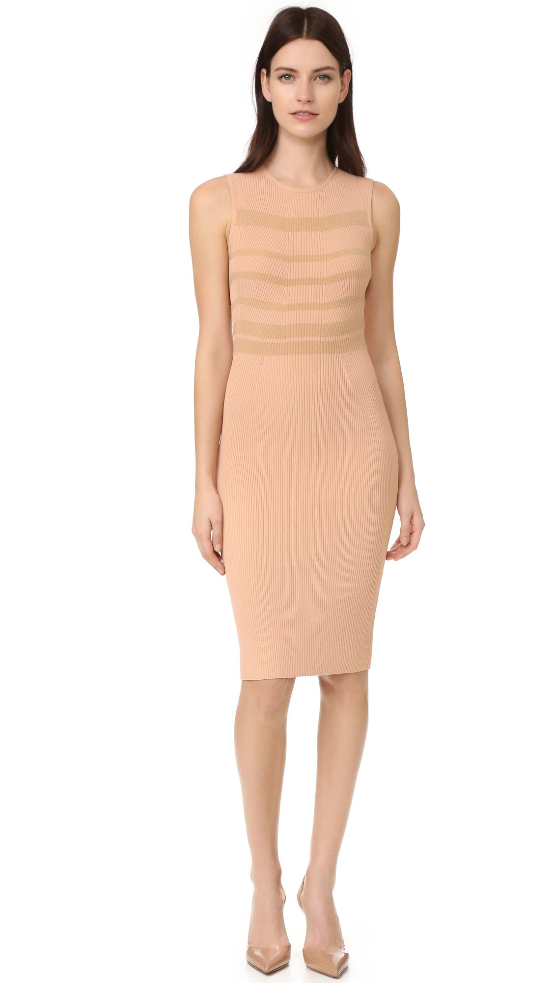 Narciso Rodriguez Sleeveless Dress - Nude/Camel