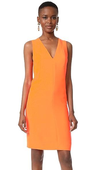 Narciso Rodriguez V Neck Dress In Neon