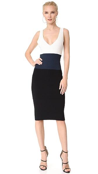 Narciso Rodriguez Sleeveless Dress - White/Navy/Black
