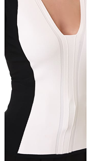 Narciso Rodriguez 3/4 Sleeve Knit Top