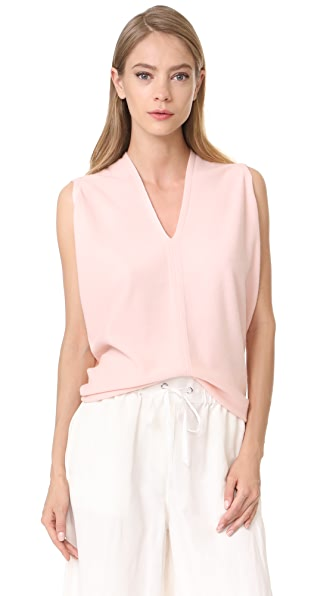 Narciso Rodriguez Cocoon Short Sleeve Top - Blush