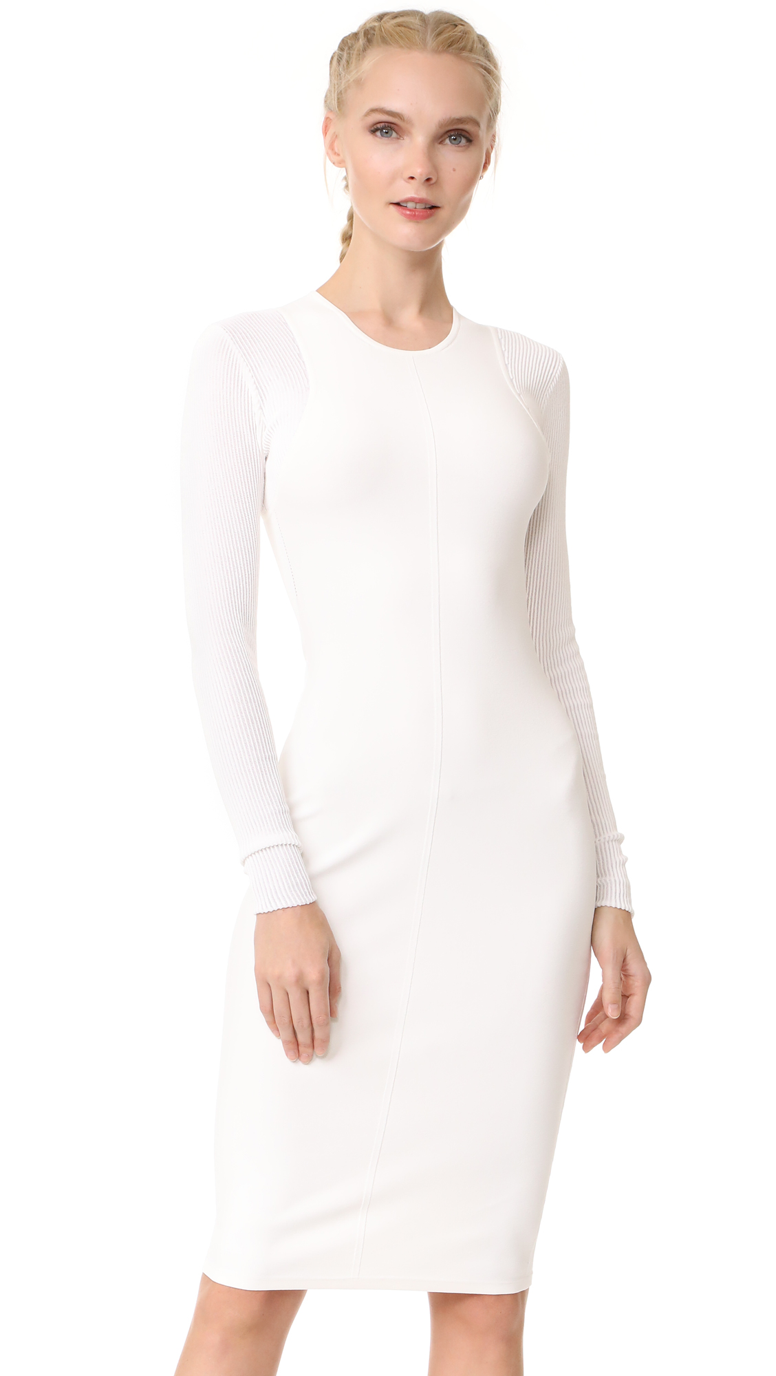Narciso Rodriguez Long Sleeve Dress