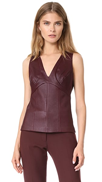 Narciso Rodriguez Sleeveless Top In Garnet