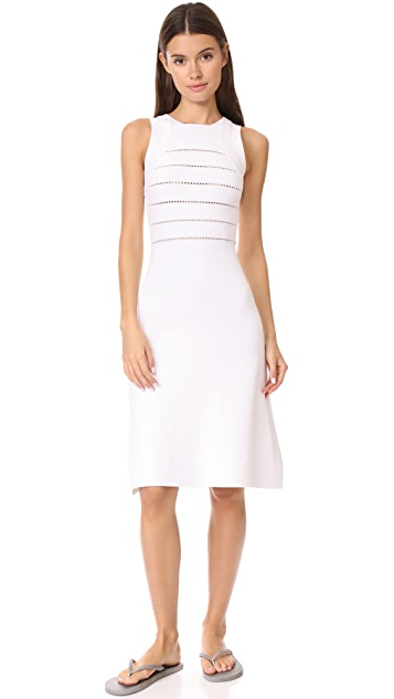 Narciso Rodriguez Linear Grid Knit Dress