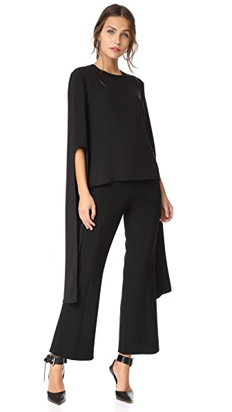 Narciso Rodriguez Bell Sleeve Top - Black