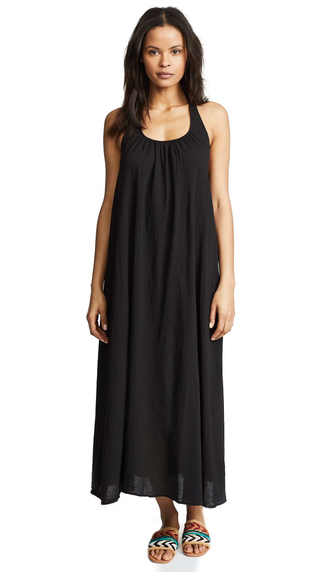 9seed Antigua Cover Up Dress In Black