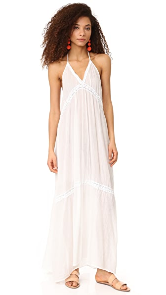 9seed Laguna Lace Halter Dress - White