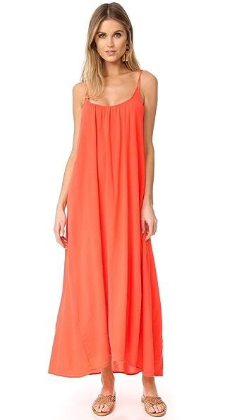 9seed Tulum Maxi Dress - Coral