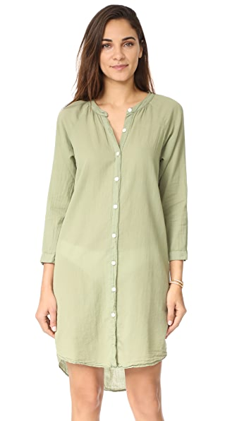 9seed Santa Monica Shirtdress - Sage