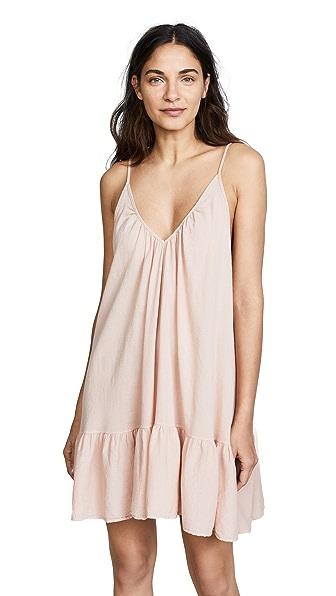 9SEED St Tropez Ruffle Mini Dress in Dusty Rose