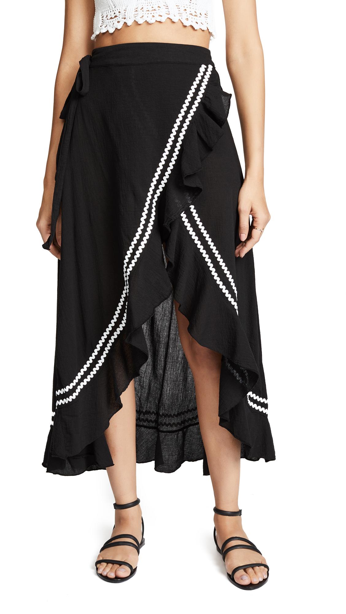 9seed Solana Skirt In Black/White