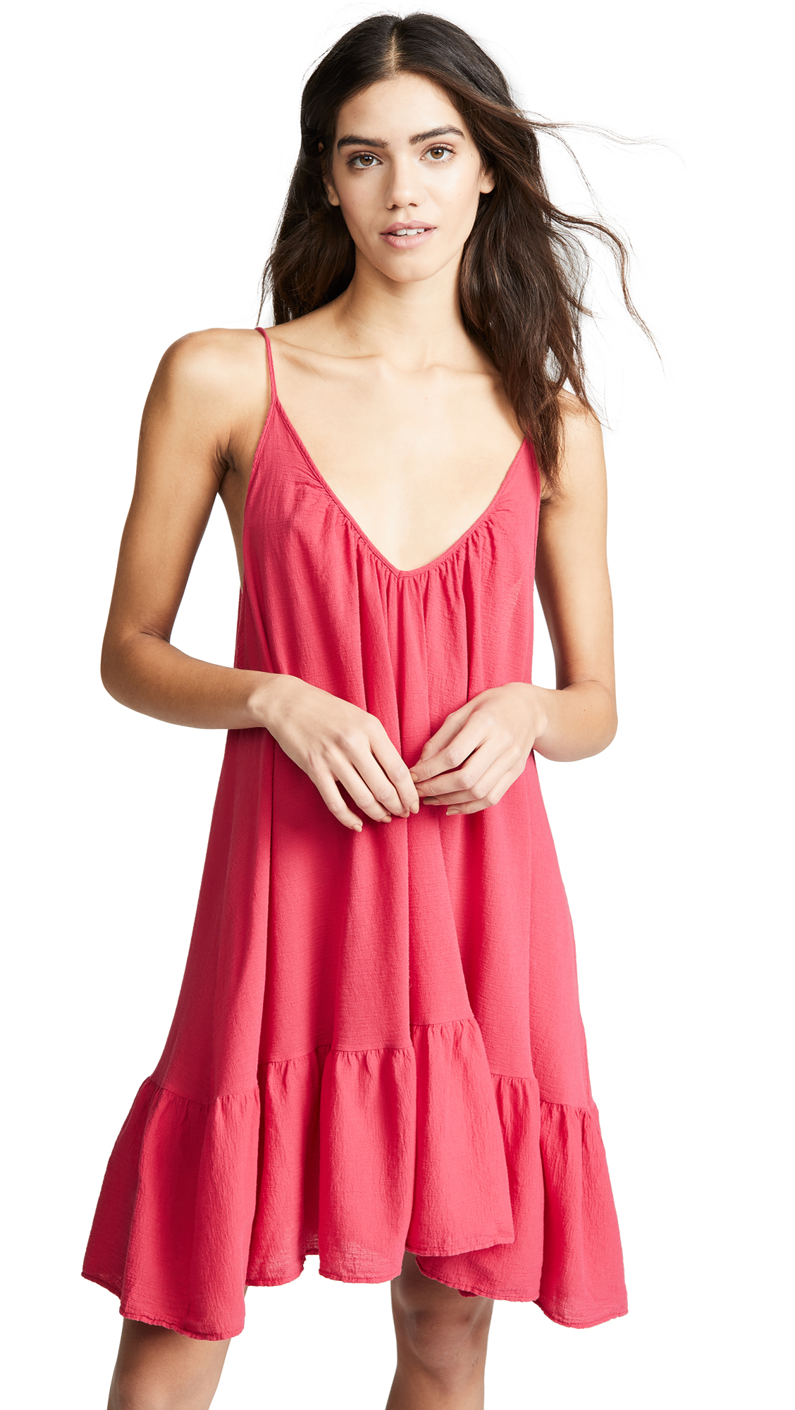 9SEED St. Tropez Dress in Cherry Red