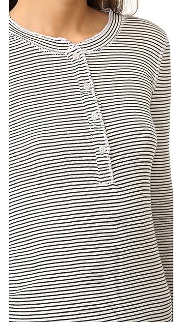 NSF Long Sleeve Stripe Henley