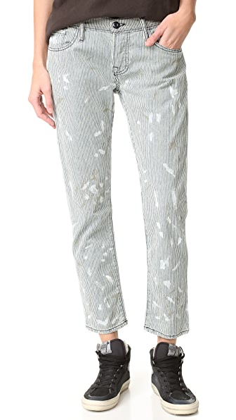 NSF Skinny Crop Railroad Stripe Jeans