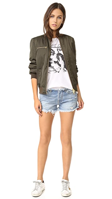 NSF Drai Frayed Cutoff Shorts