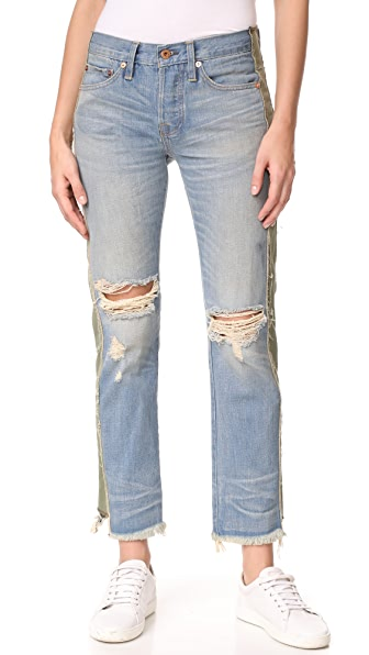 NSF Maggie Straight Slouch Jeans In Harbor