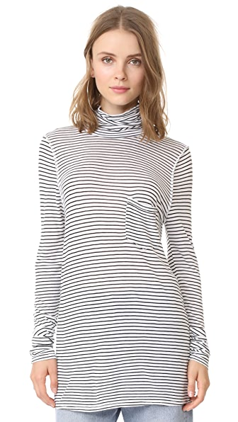 NSF Mikey Turtleneck - Black/White
