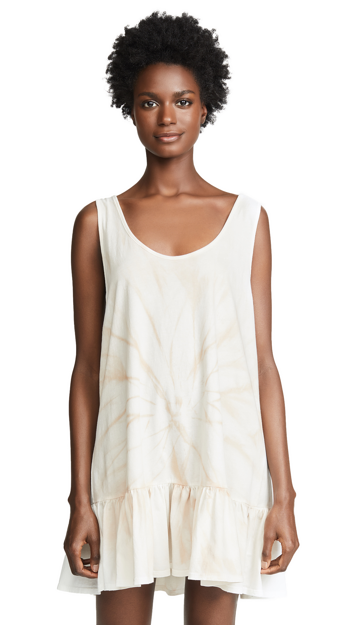 NSF Mora Dress In Crepe Tie Dye