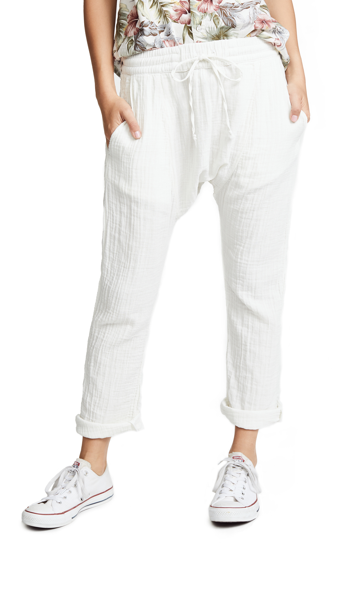 NSF Zion Sweatpants In Soft White