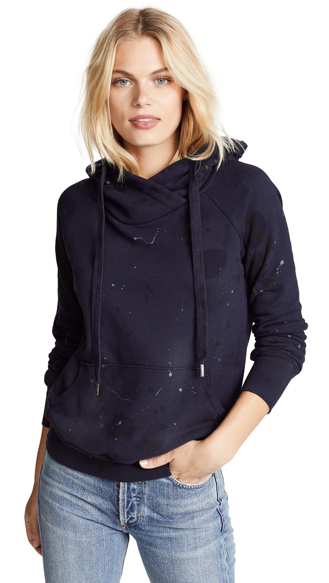 NSF Lisse Hooded Sweatshirt in Ink Blot Navy