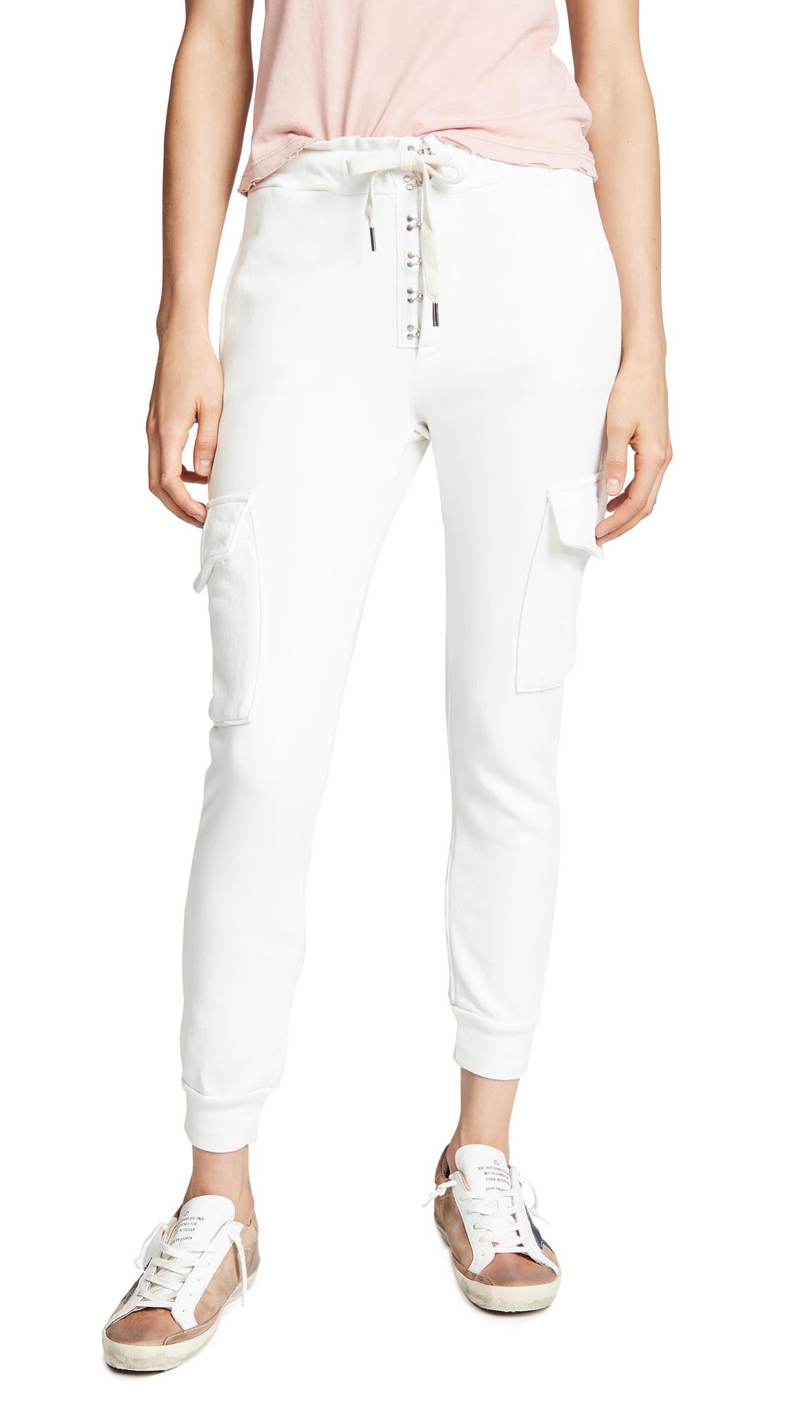 NSF Minji Sweatpants In Soft White