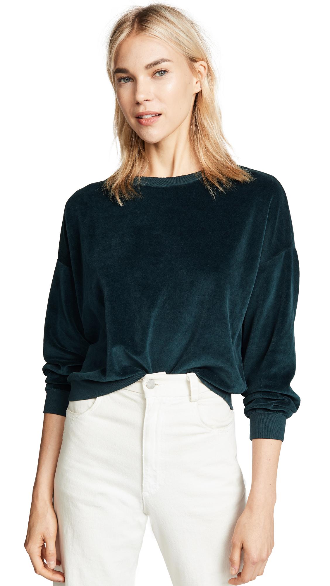 NSF Farrah Velvet Sweatshirt In Emerald