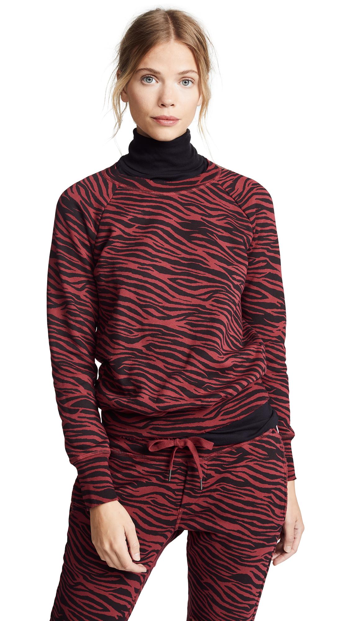 NSF Saguro Shrunken Sweatshirt in Well Red Tiger