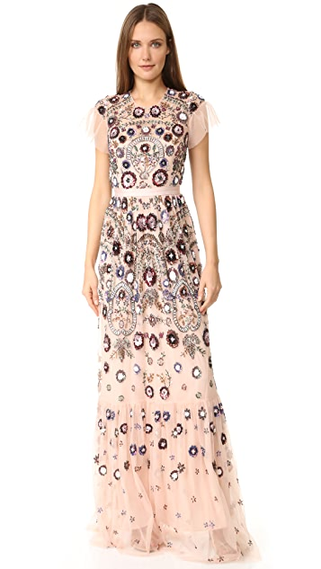 Needle & Thread Enchanted Lace Maxi Dress
