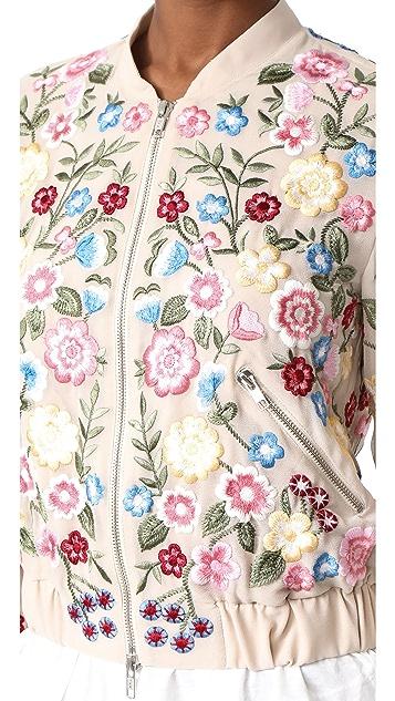 Needle & Thread Flower Foilage Bomber Jacket