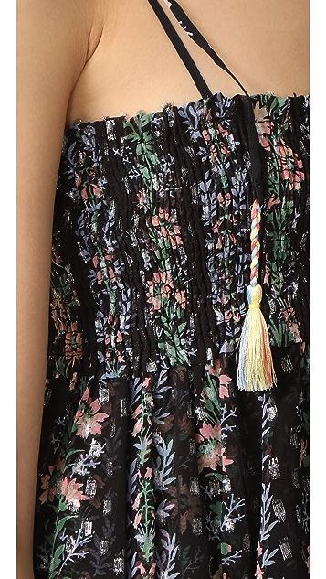 Needle & Thread Floral Stripe Tie Top
