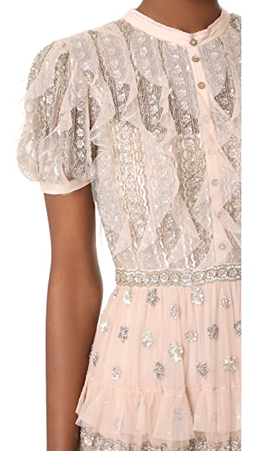 Needle & Thread Jet Frill Gown